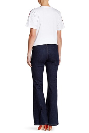 Flare Jean with no back pocket